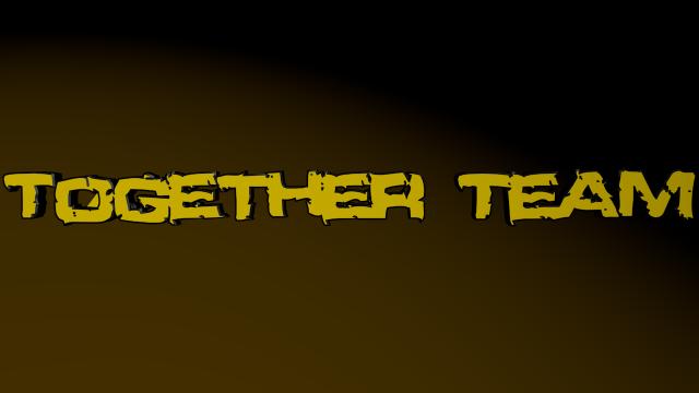 Napis Together Team